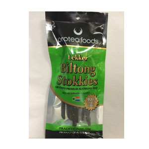 Protea Foods Traditional Biltong Stokkies 50g